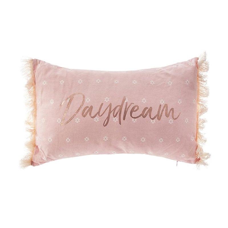 Μαξιλάρι Διακοσμητικό (Με Γέμιση) Με Κρόσια 07.158430 Pink 30Χ50 Βαμβάκι-Polyester