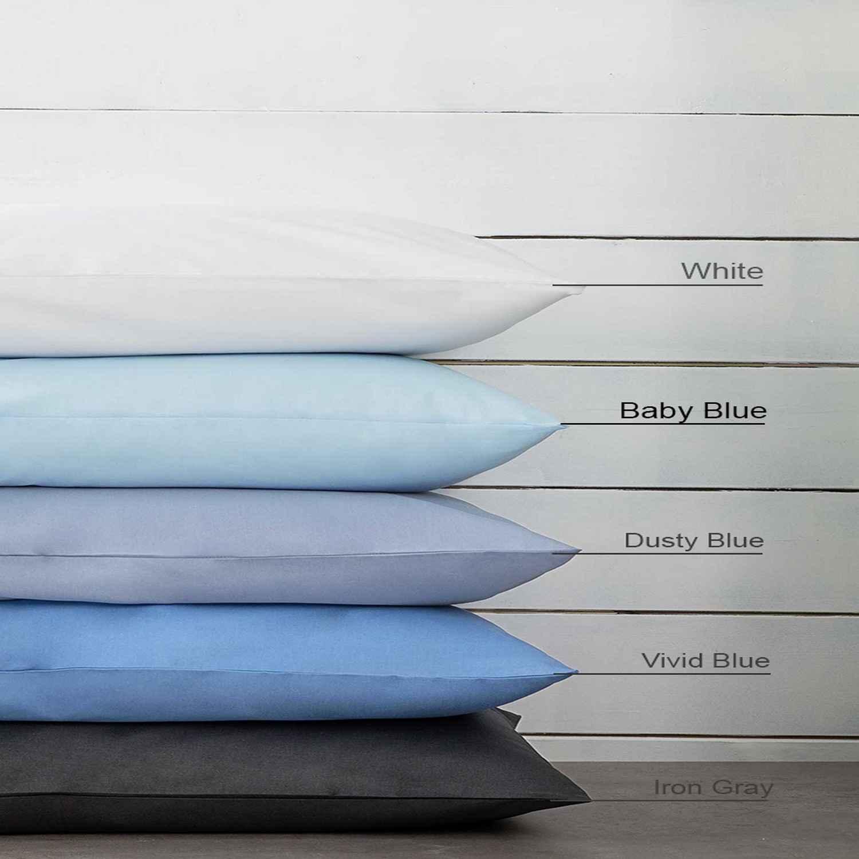 Μαξιλαροθήκες Σετ 2τμχ Unicolors – Baby Blue Nima 55X75