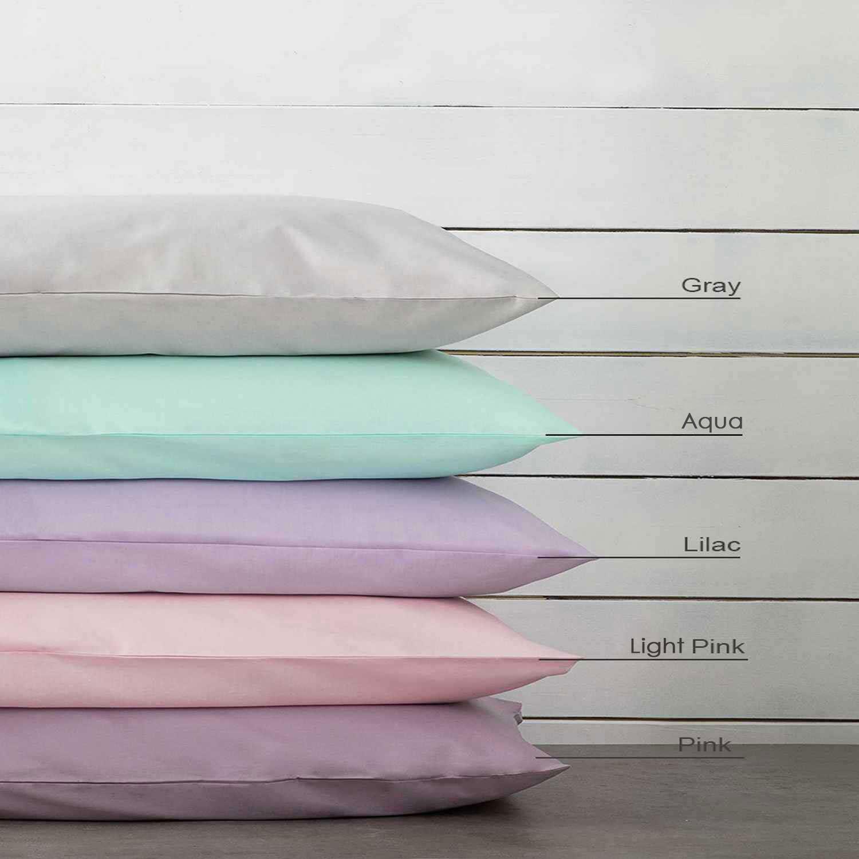 Σεντόνι με Λάστιχο Unicolors – Baby Pink Nima Υπέρδιπλo 160x200cm