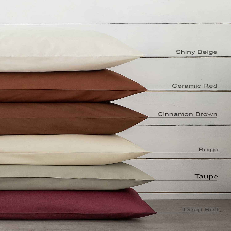 Σεντόνι με Λάστιχο Unicolors – Taupe Nima Υπέρδιπλo 160x200cm