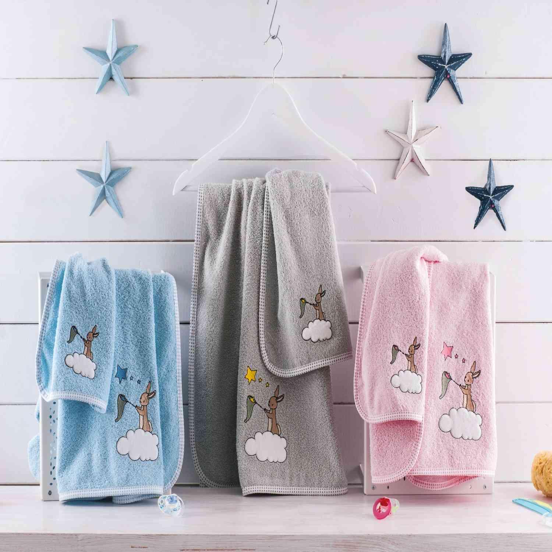Σετ Πετσέτες Παιδικές 2τμχ Dreamtime Grey Ρυθμός Σετ Πετσέτες