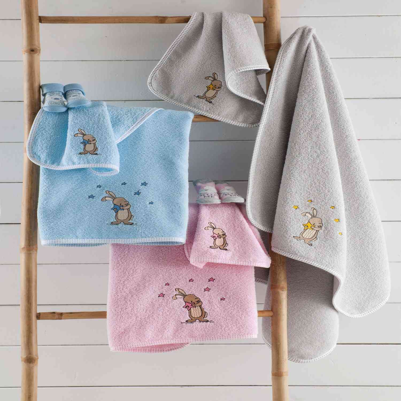 Σετ Πετσέτες Παιδικές 2τμχ Nunny Pink Ρυθμός Σετ Πετσέτες