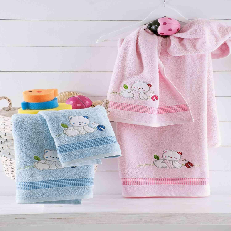 Σετ Πετσέτες Παιδικές 2τμχ Jamie Pink Ρυθμός Σετ Πετσέτες