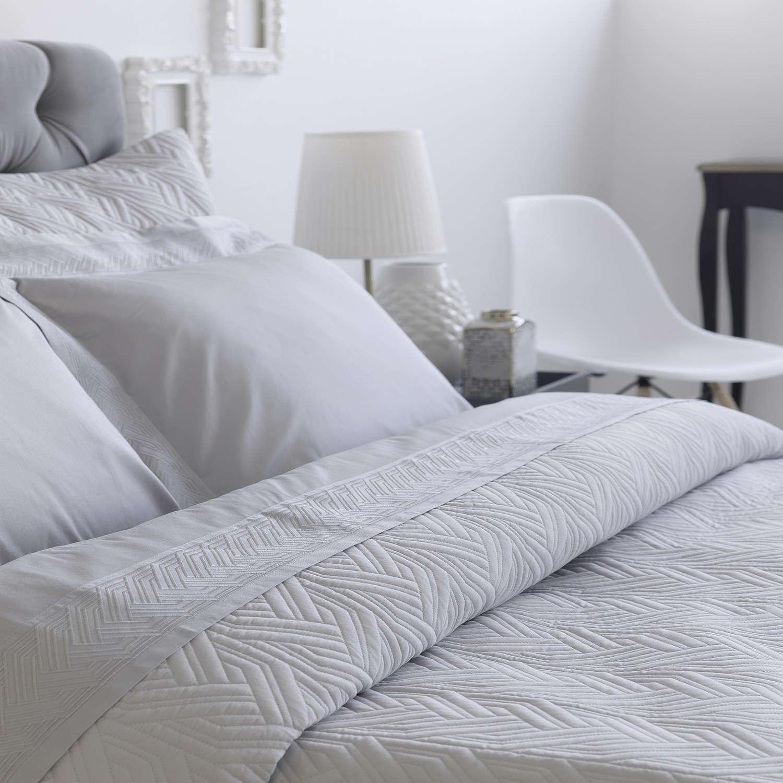 Σετ Κουβερλί & Σεντόνια 7τεμ. Strand Grey Sb Home Υπέρδιπλo 230x250cm
