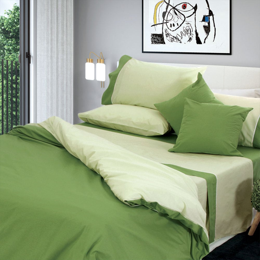Σετ Σεντόνια Με Φάσα – Simi Olive Sb Home Μονό 170x270cm