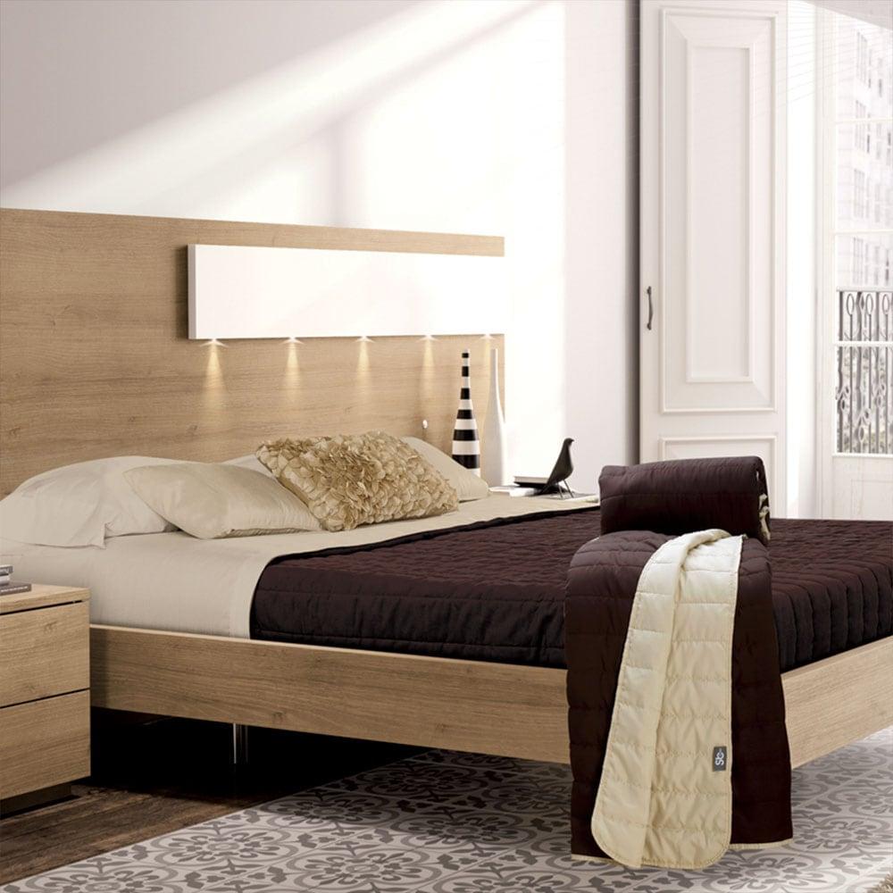 Κουβερλί Cool Summer Brown Sb Home Υπέρδιπλo 220x250cm