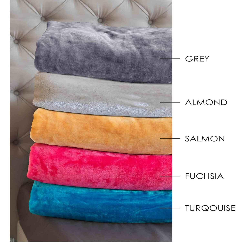 Κουβέρτα Velour – Tyrol Salmon Sb Home Μονό 160x240cm