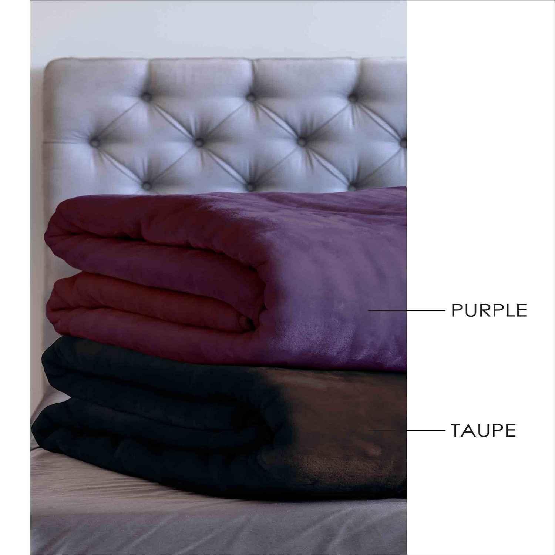 Κουβέρτα Velour – Tyrol Taupe Sb Home Υπέρδιπλo 220x240cm