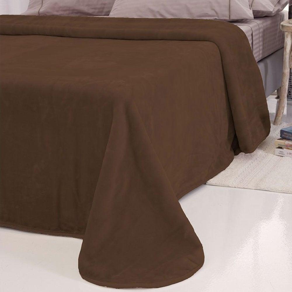Κουβέρτα Velour Tyrol Brown Sb Home Μονό 160x240cm