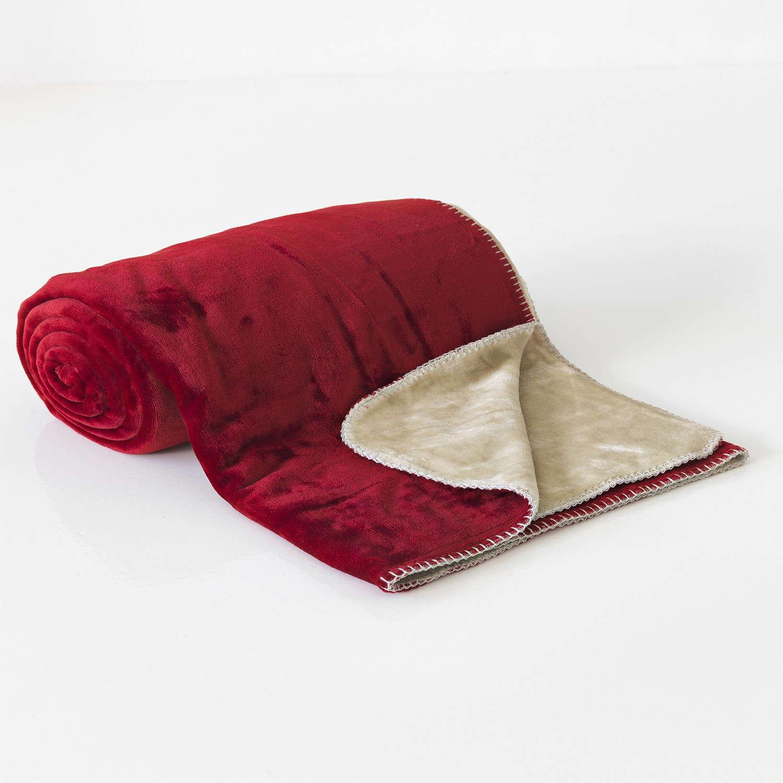 Κουβέρτα Διπλής Όψεως Fleece Abbracio Cherry Sb Home Μονό 160x240cm