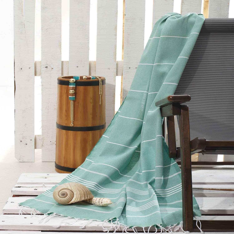Πετσέτα Θαλάσσης – Παρεό Pesthemal Rocks Mint Sb Home Θαλάσσης 100x180cm