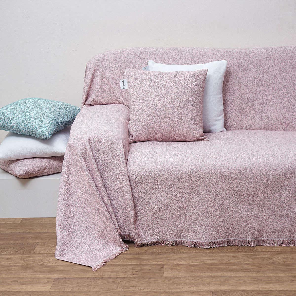 Μαξιλάρι Διακοσμητικό (Με Γέμιση) Des. 1554 Blush Pink Anna Riska 40Χ40 100% Polyester