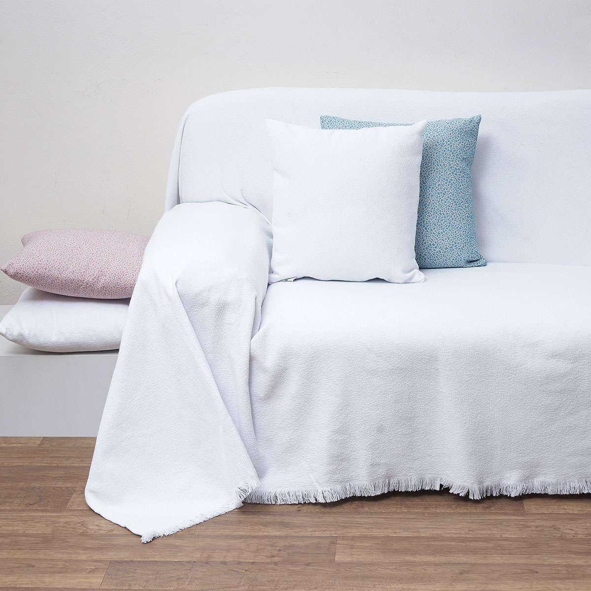 Μαξιλάρι Διακοσμητικό (Με Γέμιση) Des. 1554 White Anna Riska 40Χ40 100% Polyester