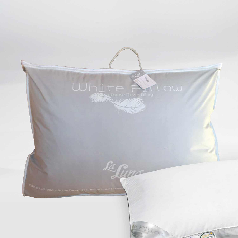 Μαξιλάρι Ύπνου Πουπουλένιο White Goose Down La Luna 50Χ70