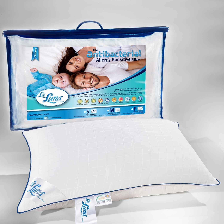 Μαξιλάρι Ύπνου Ballfiber Antibacterial Medium La Luna 50Χ70