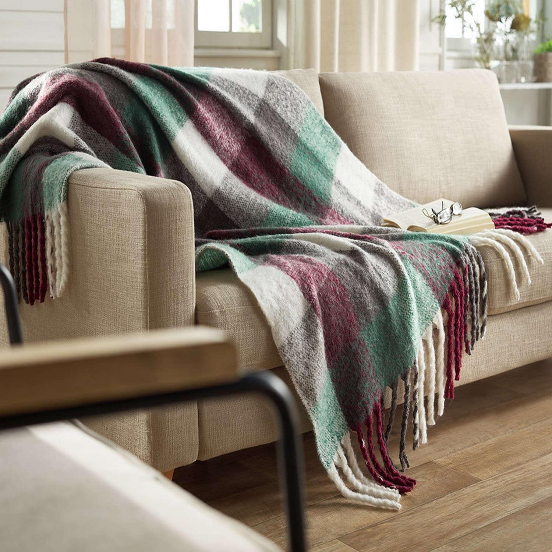 Κουβέρτα Καναπέ 771/02 Μπορντώ Gofis Home 150X180 130x170cm