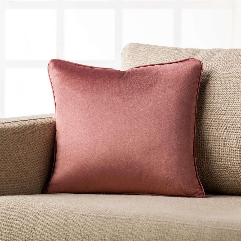 Διακοσμητική Μαξιλαροθήκη Μονόχρωμη Suede 711/17 Σομόν Gofis Home 45X45 100% Polyester