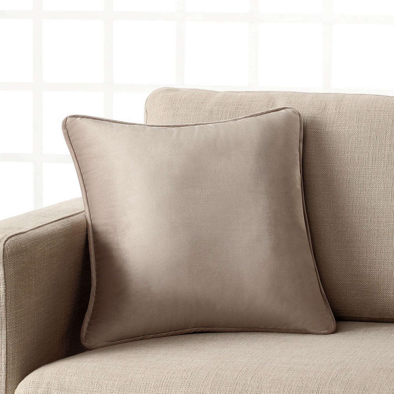 Διακοσμητική Μαξιλαροθήκη Μονόχρωμη Suede 711/06 Μπεζ Gofis Home 45X45 100% Polyester