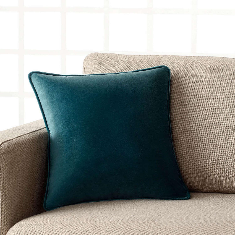 Διακοσμητική Μαξιλαροθήκη Μονόχρωμη Suede 711/11 Πετρόλ Gofis Home 45X45 100% Polyester