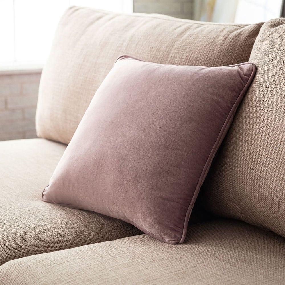Διακοσμητική Μαξιλαροθήκη Μονόχρωμη Suede 711/19 Λιλά Gofis Home 45X45 100% polyester