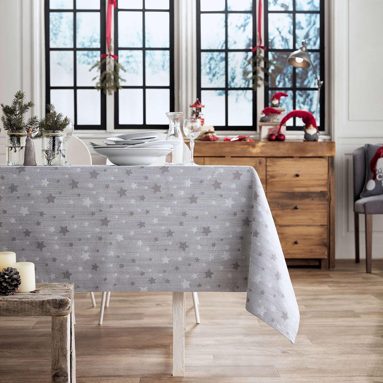 Τραπεζομάντηλο Χριστουγεννιάτικο 901/15 Γκρι Gofis Home 150X200