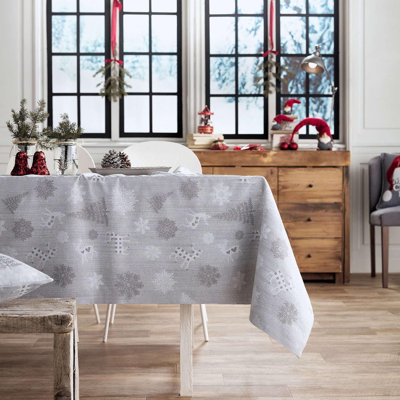 Τραπεζομάντηλο Χριστουγεννιάτικο 285/15 Γκρι Gofis Home 150X250