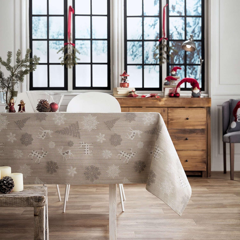 Τραπεζομάντηλο Χριστουγεννιάτικο 285/04 Χρυσό Gofis Home 150X250