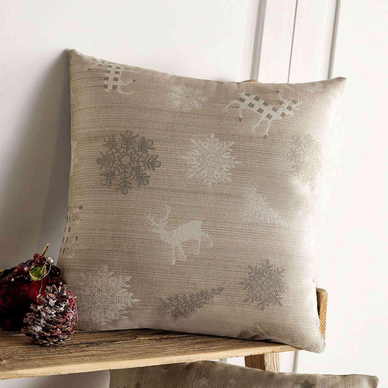 Διακοσμητική Μαξιλαροθήκη Χριστουγεννιάτικη 285/04 Χρυσό Gofis Home 45X45