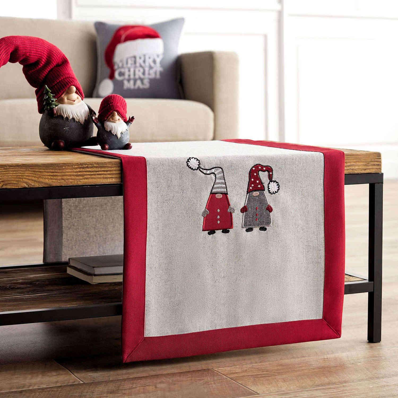 Runner Χριστουγεννιάτικο 833 Γκρι & Κόκκινο Gofis Home 40Χ150