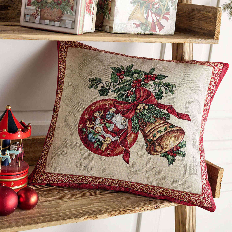 Διακοσμητική Μαξιλαροθήκη Χριστουγεννιάτικη 849 Multi Gofis Home 45X45