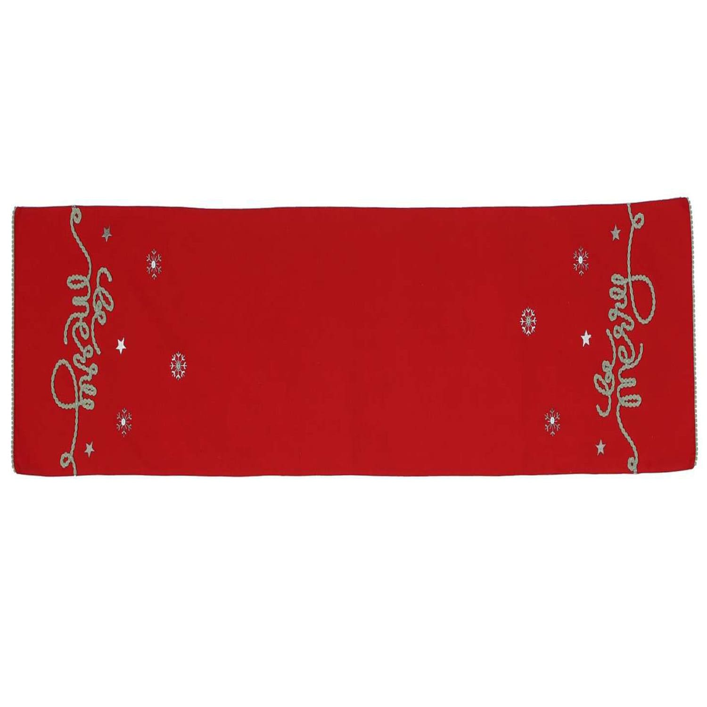 Runner Χριστουγεννιάτικο Be Merry Red Nef-Nef 30Χ150