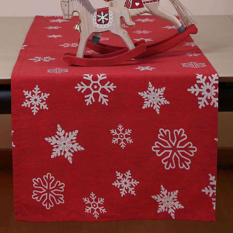 Runner Χριστουγεννιάτικο Miracle Red – White Nef-Nef 40Χ150