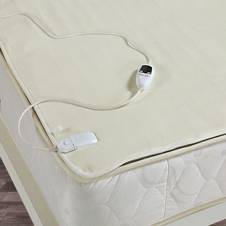 Ηλεκτρική Κουβέρτα Fleece Digital Display White Nef-Nef Υπέρδιπλo 140x160cm
