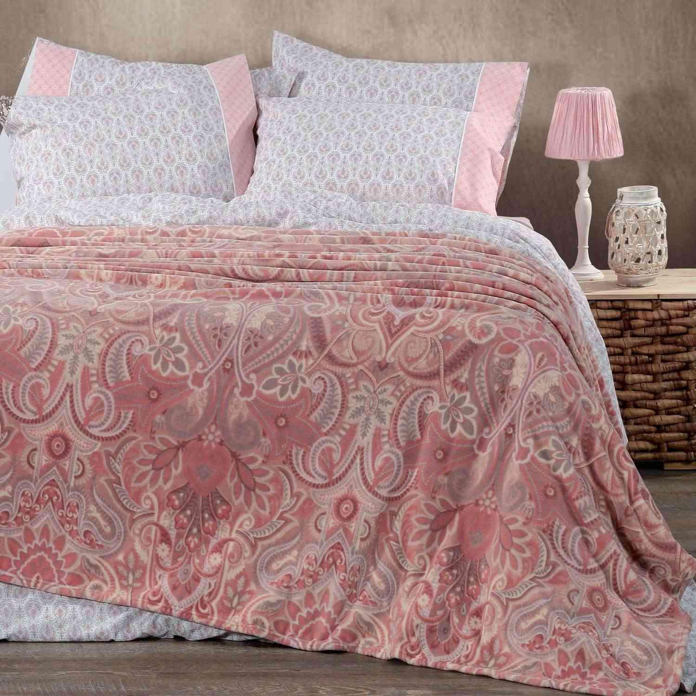 Κουβέρτα Fleece Riali Pink Nef-Nef Υπέρδιπλo 240x220cm