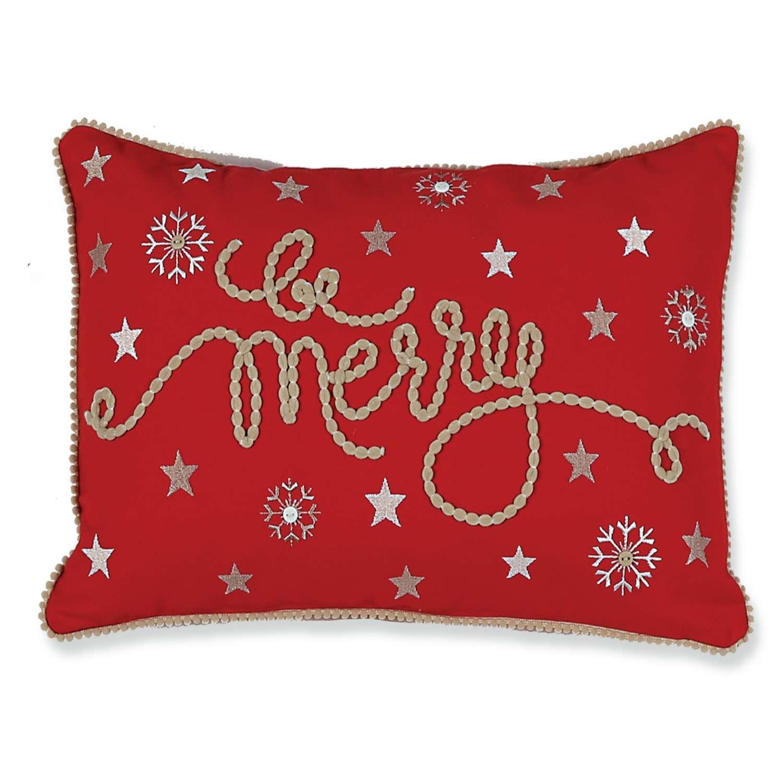 Μαξιλάρι Διακοσμητικό Χριστουγεννιάτικο (Με Γέμιση) Be Merry Nef-Nef 30Χ50