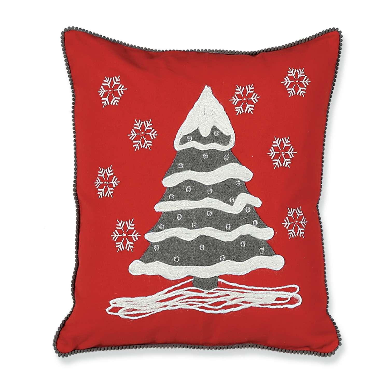 Μαξιλάρι Διακοσμητικό Χριστουγεννιάτικο (Με Γέμιση) Snow Tree Nef-Nef 45X45