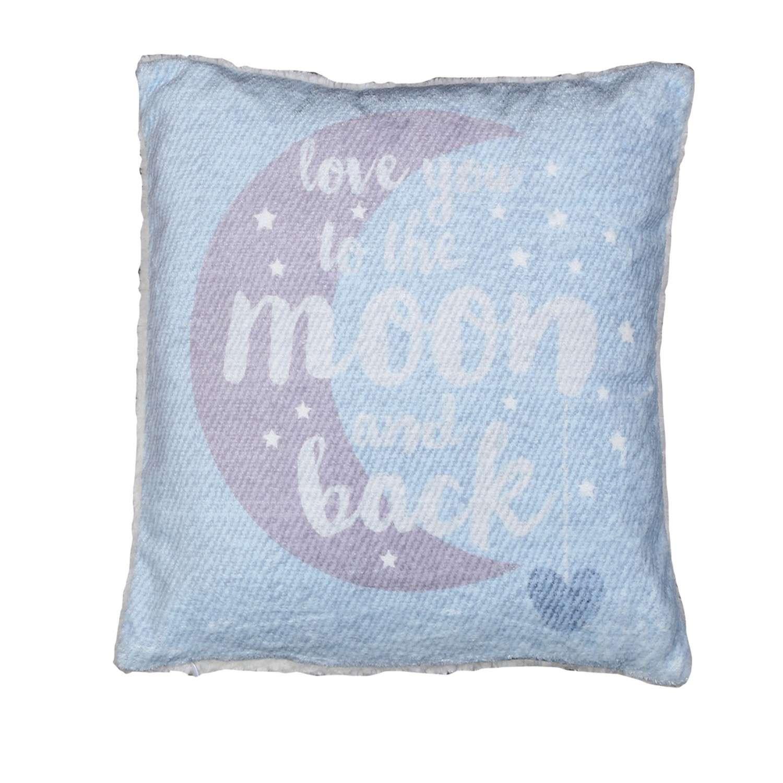 Μαξιλάρι Διακοσμητικό (Με Γέμιση) Fleece Moon And Back Blue Nef-Nef 40Χ40
