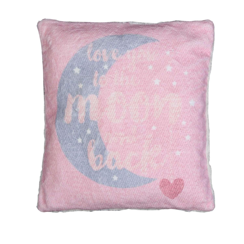 Μαξιλάρι Διακοσμητικό (Με Γέμιση) Fleece Moon And Back Pink Nef-Nef 40Χ40