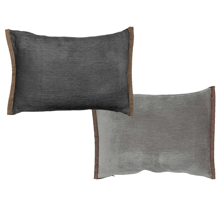 Μαξιλάρι Διακοσμητικό (Με Γέμιση) Tanger Grey – Anthracite 18 Nef-Nef 30Χ50 100% Polyester