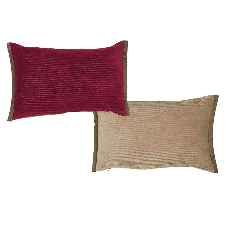 Μαξιλάρι Διακοσμητικό (Με Γέμιση) Tanger Bordo – Beige 18 Nef-Nef 30Χ50 100% polyester