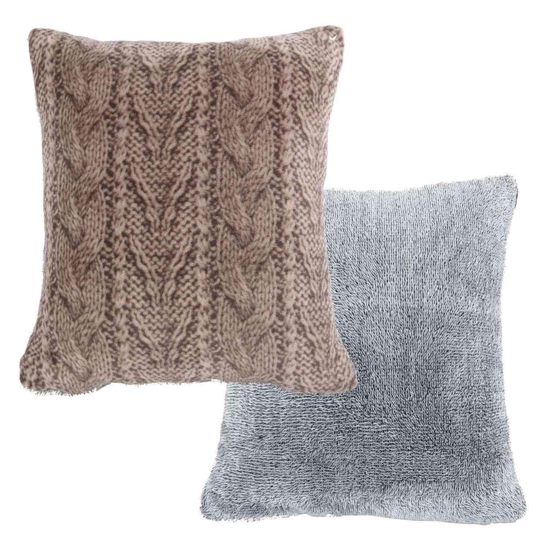 Μαξιλάρι Διακοσμητικό (Με Γέμιση) Knitty Beige Nef-Nef 45X45 100% Polyester