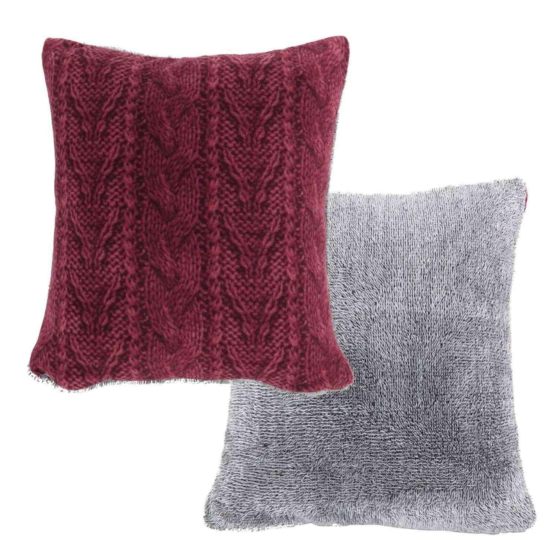 Μαξιλάρι Διακοσμητικό (Με Γέμιση) Knitty Bordo Nef-Nef 45X45 100% Polyester
