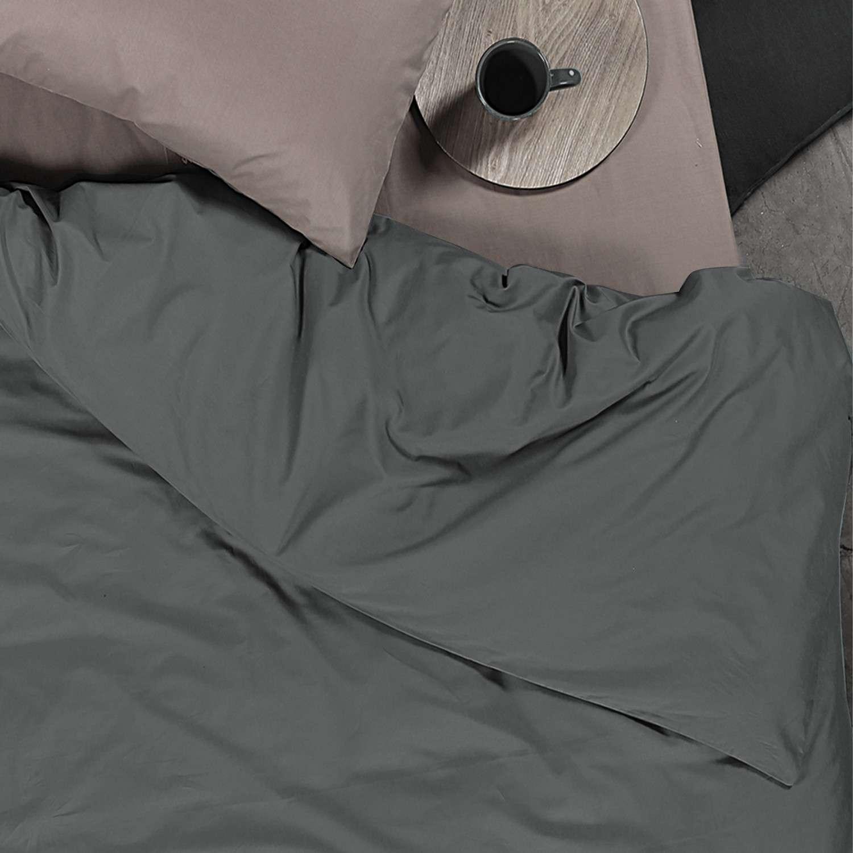 Παπλωματοθήκη Basic Dark Grey Nef-Nef Μονό 160x240cm