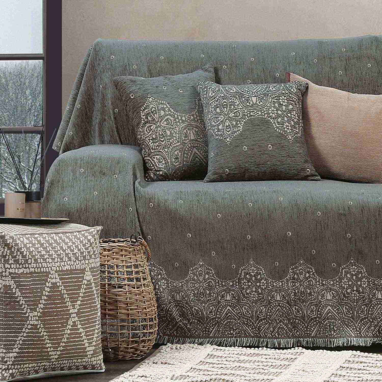 Ριχτάρι Vellore Winter Grey Nef-Nef Διθέσιο 170x250cm