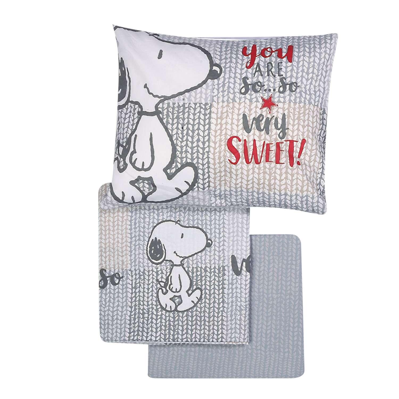 Σεντόνια Σετ 3τμχ Sweet Snoopy Nef-Nef Κούνιας 120x170cm