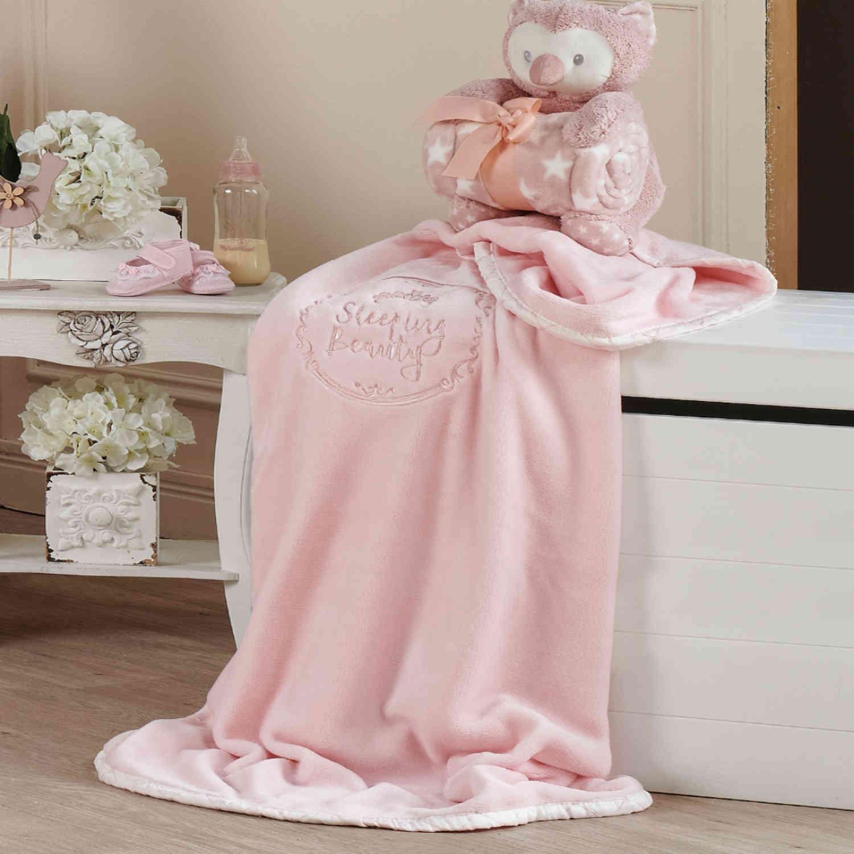 Κουβέρτα Velour Fleece Beauty Kentia Αγκαλιάς 80x110cm