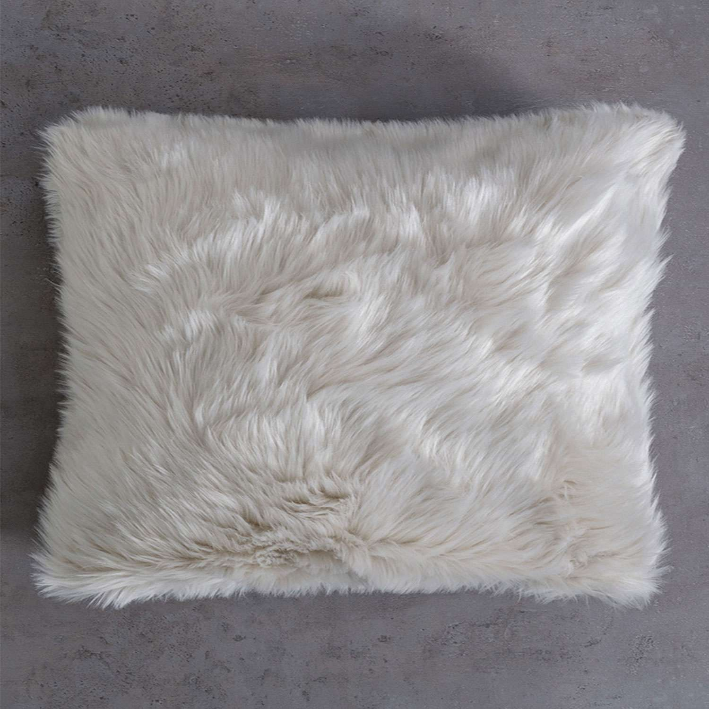 Μαξιλάρι Διακοσμητικό (Με Γέμιση) Velvet Ivory Nima 45X45 100% Ακρυλικό