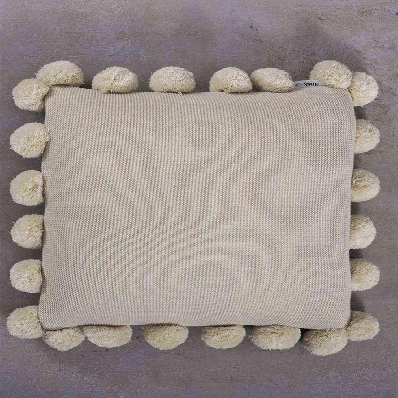 Μαξιλάρι Διακοσμητικό (Με Γέμιση) Pom Pom Snug Beige Nima 45X45 100% Ακρυλικό