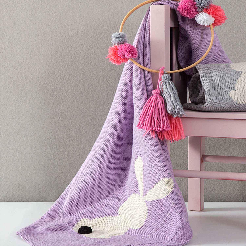 Κουβέρτα Βρεφική Honey Bunny Lilac Nima ΑΓΚΑΛΙΑΣ 75x110cm