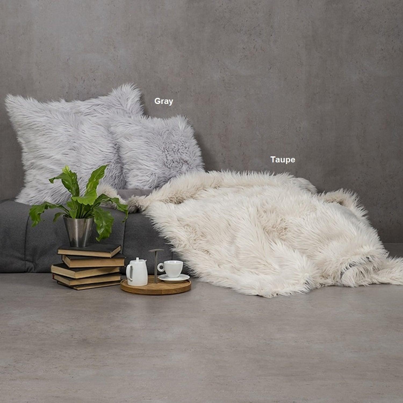 Κουβέρτα Καναπέ Fluffy Gray Nima 150X180 130x170cm